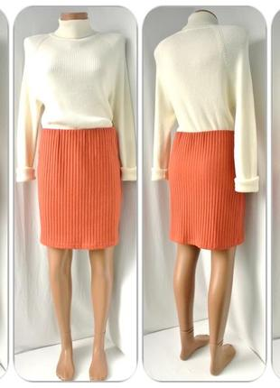 Трендовая, модная юбка в  рубчик от cubus юбка прямого кроя размер м.