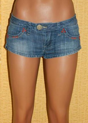 Шорты синие женские джинсовые короткие (можно на девочку подростка) р. 25 r. marks