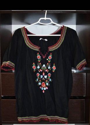 Вышиванка, блуза с вышивкой р 16