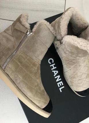 Замшевые ботинки-валенки chanel. оригинал. Chanel, цена - 14800 грн ... e55212495e1