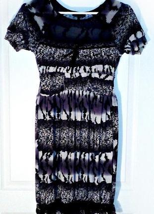Платье в леопардовый принт s-m, кружево, сетка, нарядное sogo club👀👀👀