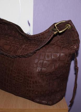 Шикарная стильная большая кожаная сумка мешок la moda клеймо олень