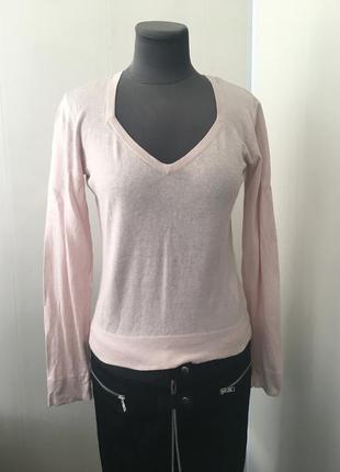 Супер состав! нежнейший розовый облегчённый свитер кофта , натуральный шёлк кашемир,
