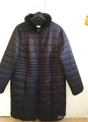 Весеннее длинное стёганое пальто. sheego