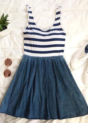 Комбинированное летнее платье от h&m