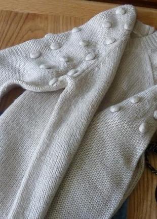 Шикарный свитер джемпер пуловер бежевый