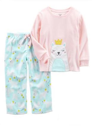 Пижама для девочки на 3 года, теплая
