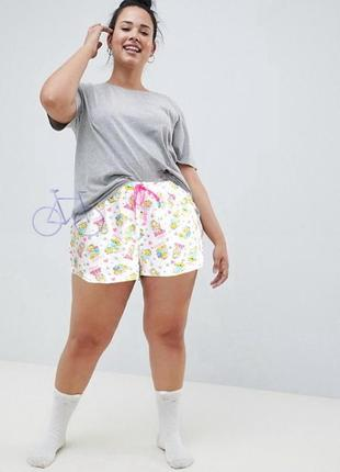 Милые пижамные шорты george 20-22 uk трикотажные домашние