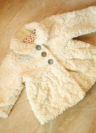 Шуба, теплая куртка zara от 9 до 18 месяцев