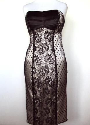 Кружевное вечернее платье бюстье (можно на выпускной)