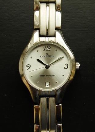 Anne klein реставрированные часы из сша мех. ronda swiss parts
