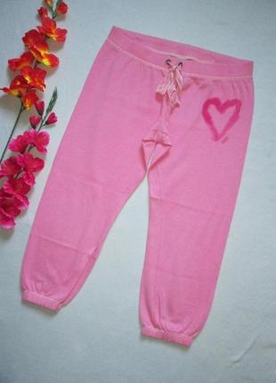 Утепленные спортивные трикотажные капри с начесом теплые  victoria's secret pink оригинал