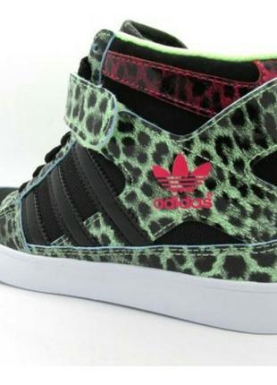 Сникерсы кроссовки  adidas оригинал серии ab forum up w hi heel black green