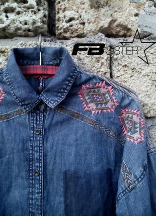 Стильная джинсовая рубашка от немецкого бренда fbsister