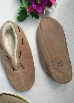 Тапочки кожаные 38-39 размер