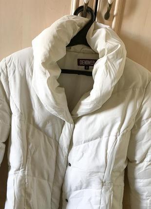 Белоснежный пуховик-одеяло