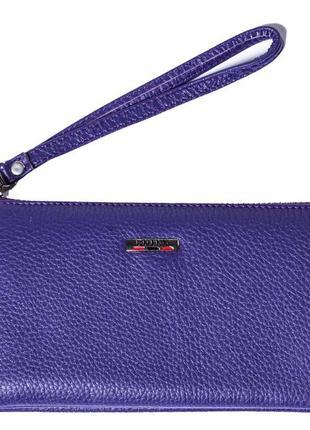 Женский клатч кожаный фиолетовый butun 662-004-006