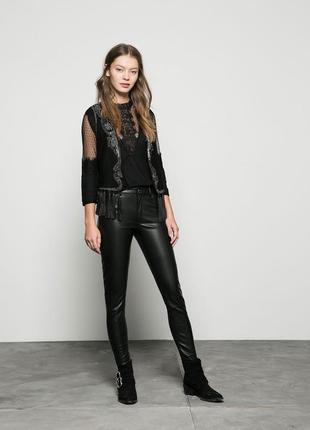 Кожаные штаны брюки джинсы bershka бедра до 83-88см оригинал eur32 eur34 zara plein