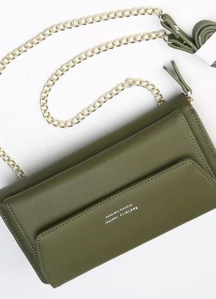 Женская сумка baellerry зеленая