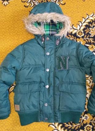 Теплая зимняя куртка  next 6 лет 116 см