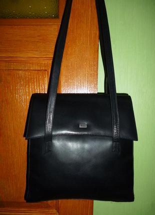 Стильная вместительная сумка натуральная кожа assima3
