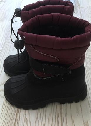 Теплые ботинки на дождь и холод