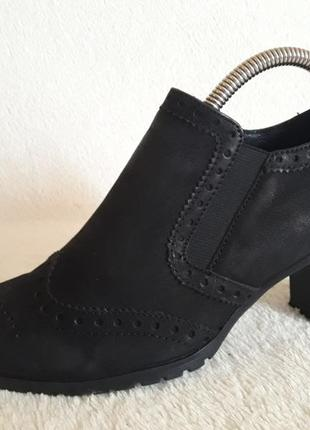 Шикарные кожаные туфли броги фирмы 5th avenue ( германия) р. 37 стелька 24 см