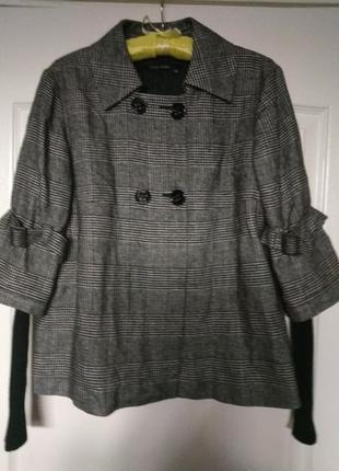 Marc aurel  трендовый, стильный, двубортный пиджак, лёгкое пальто