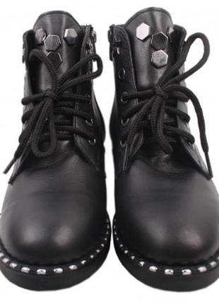 Ботинки зимние шнуровка  creepy натуральная кожа р. 36-40