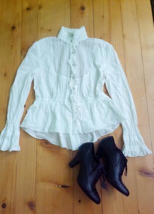 Супер модная белая кружавная блузка 12-14 размер бренд