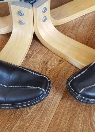 Сандалии тапочки кожаные для дома и улицы walkx men