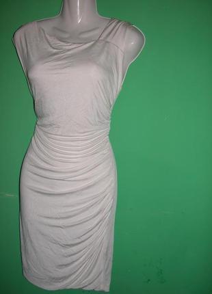 Распродажа!платье миди белое 100% вискоза axara paris