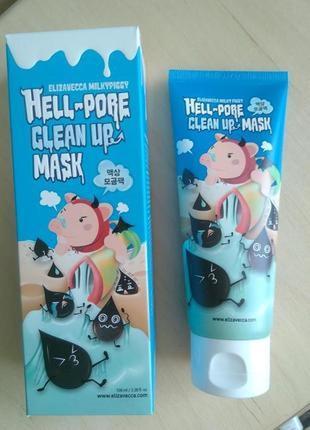 Известная маска_пленка для очищения пор elizavecca hell-pore корейская .