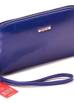 Женская косметичка синяя из натуральной кожи butun 657-004-013