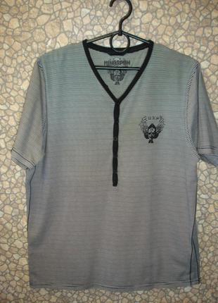 "Полосатая футболка  ""ringspun"" .    bangladesh"