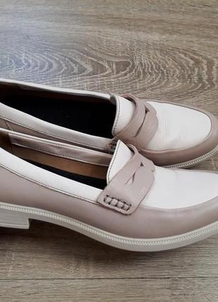 Кожаные туфли лоферы hotter p.38 (24.7)