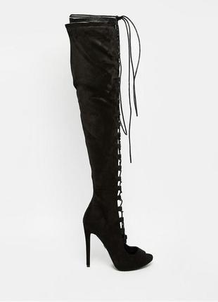 Ботфорты со шнуровкой / высокие сапоги / ботфорты