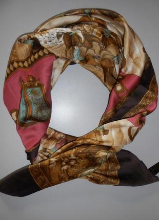 Платок art of the scarf tie rack. италия. лошади