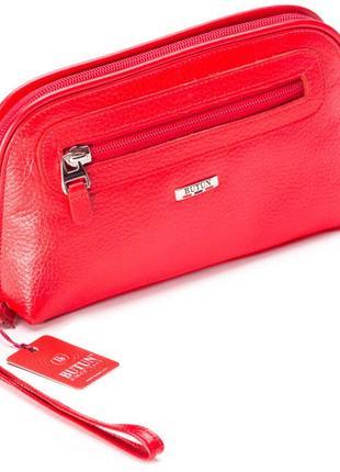 Женская косметичка красная из натуральной кожи butun 665-004-006