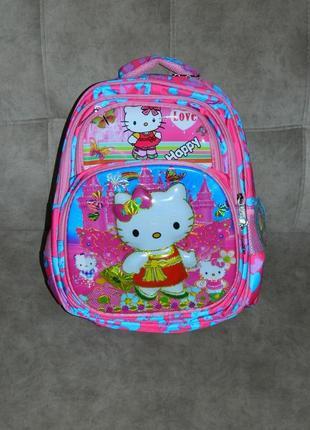 Новый детский школьный рюкзак для девочки с китти.