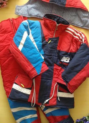 Зимний комплект (куртка + полукомбинезон), 4-5 лет 104-110 см