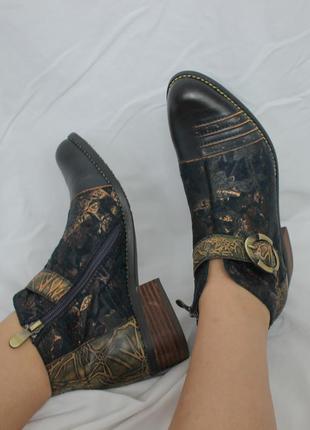 Новые французские кожаные ботинки nina vita