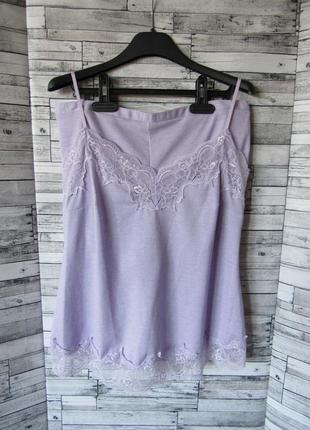 Пижама майка шорты с нежнейшим кружевом f&f подойдет на 8-12 размер