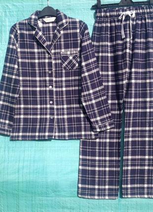 Чудесная теплая мягкая женская байковая пижама primark р.xs, m, l