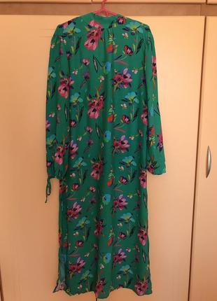 New длинное цветочное платье от mango