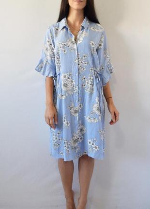 Платье с шнуровкой на талии papaya