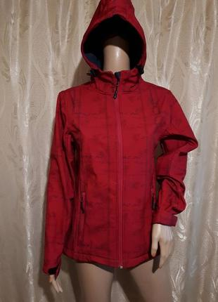 Куртка / софтшелл soft shell женская ветровка  / спортивная с капюшоном