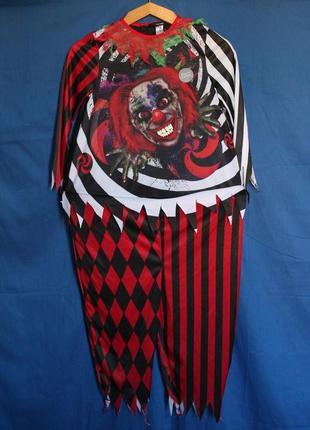 Карнавальный костюм клоуна на вечеринку хэллоуин, бренд george, на 7/8 лет