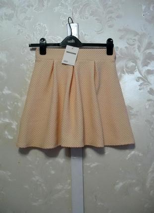 Новая пудровая юбка asos из фактурного трикотажа