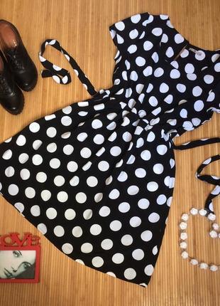 Нереально красивое платье в крупный горошек,размер xxl